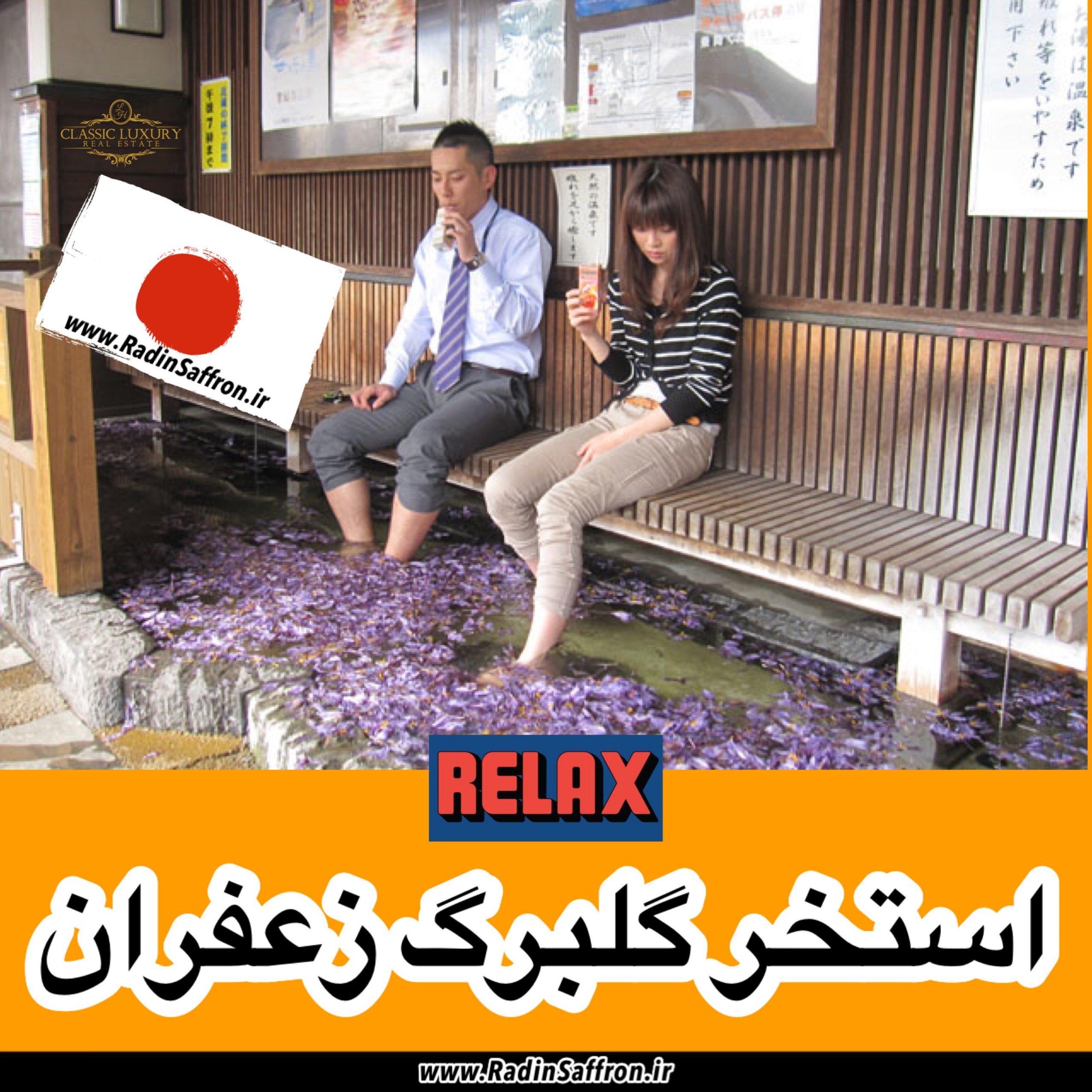 گردشگری ژاپن با استخر گلبرگ زعفران + گزارش تصویری