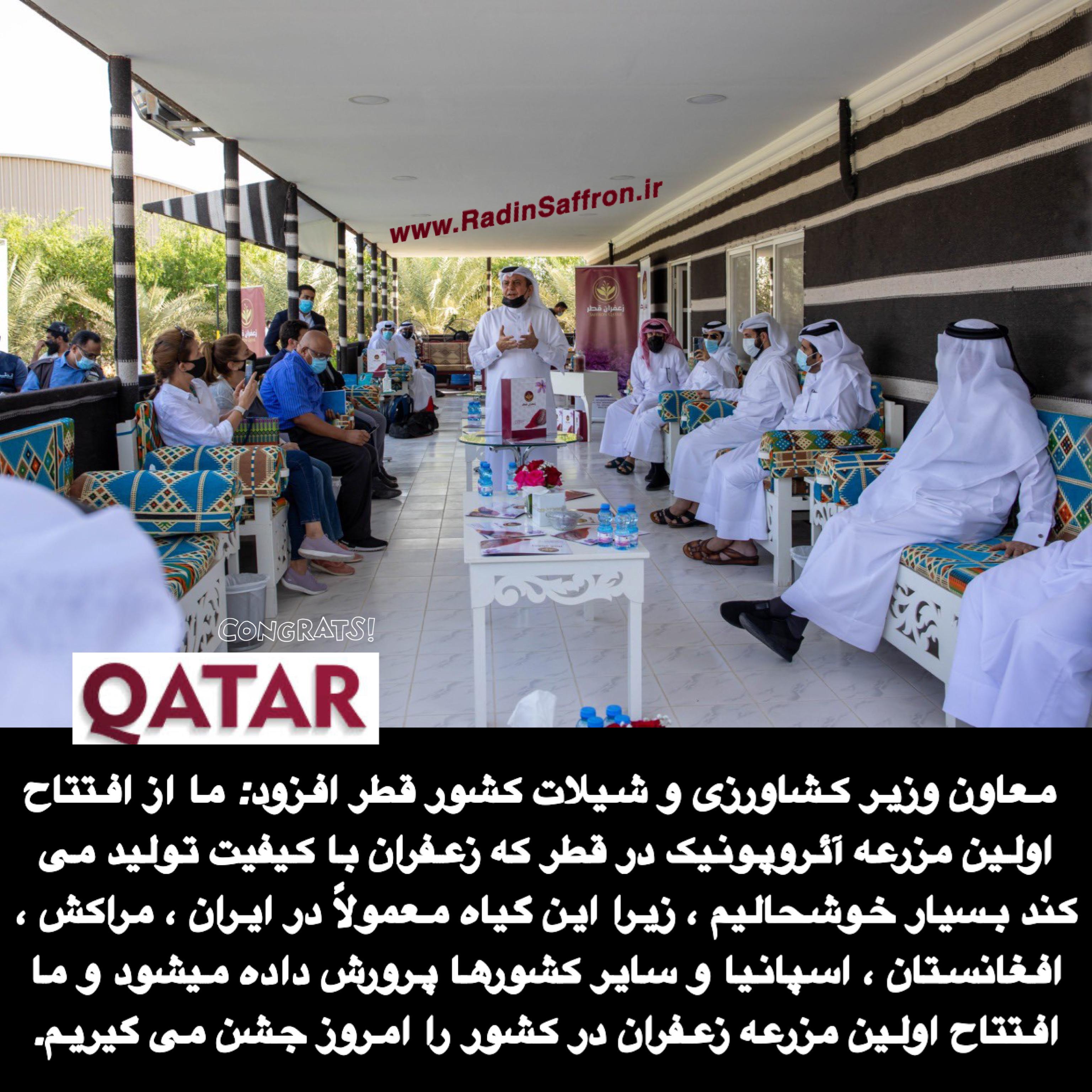 کشت گلخانه ای زعفران در قطر
